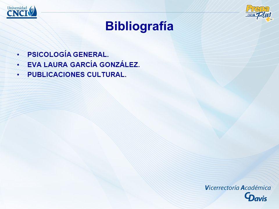 Bibliografía PSICOLOGÍA GENERAL. EVA LAURA GARCÍA GONZÁLEZ.