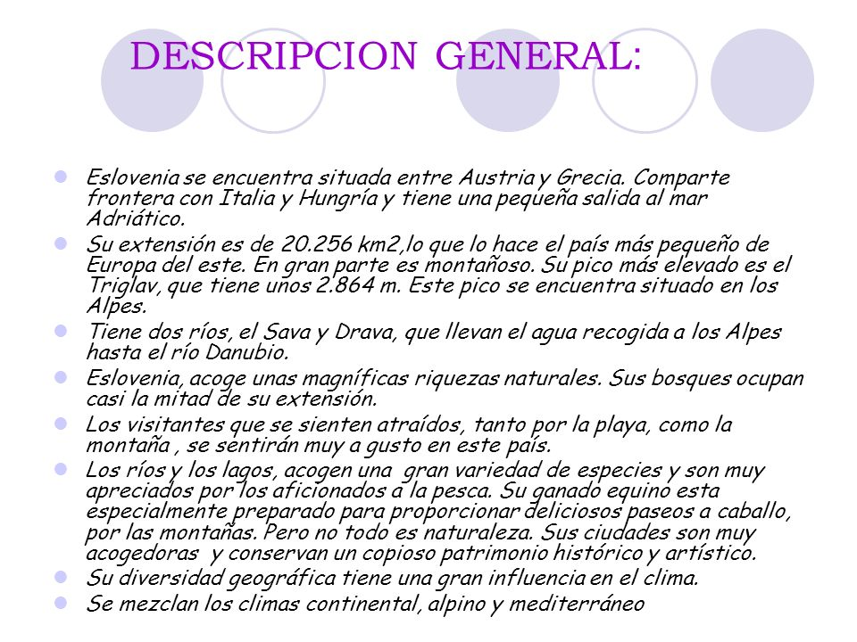 DESCRIPCION GENERAL: