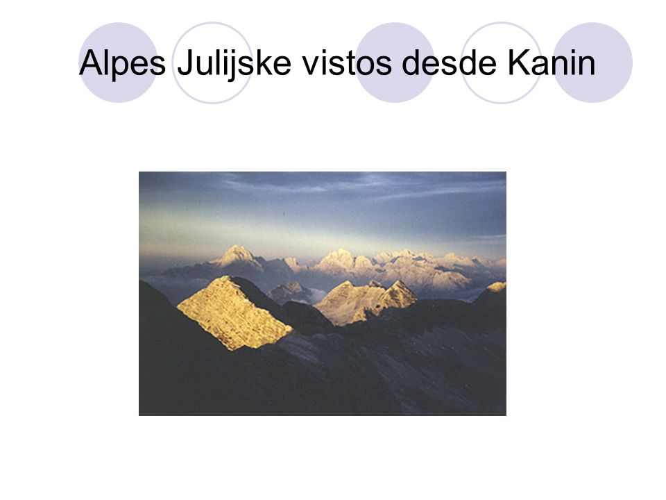 Alpes Julijske vistos desde Kanin