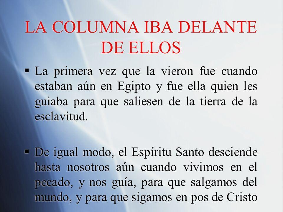 LA COLUMNA IBA DELANTE DE ELLOS