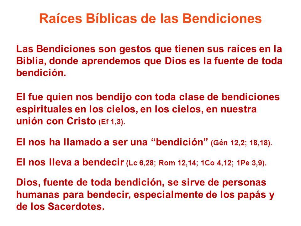 Raíces Bíblicas de las Bendiciones