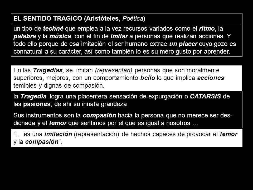 EL SENTIDO TRAGICO (Aristóteles, Poética)