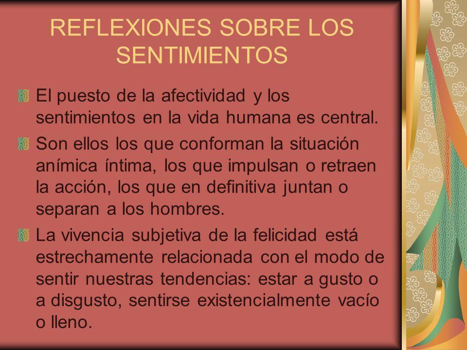 REFLEXIONES SOBRE LOS SENTIMIENTOS