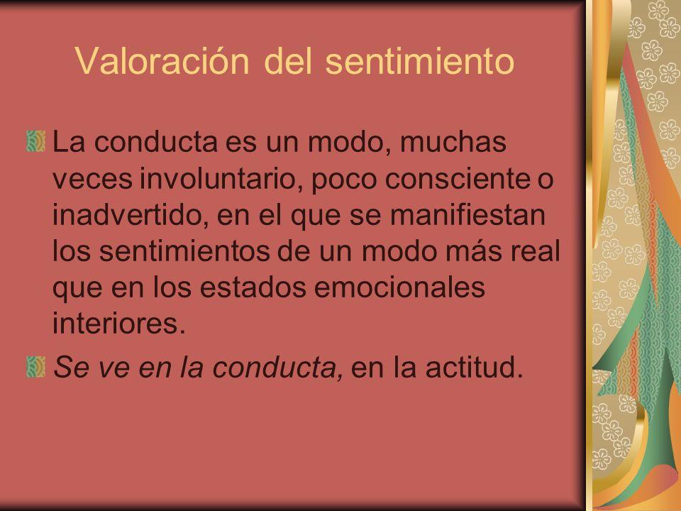 Valoración del sentimiento