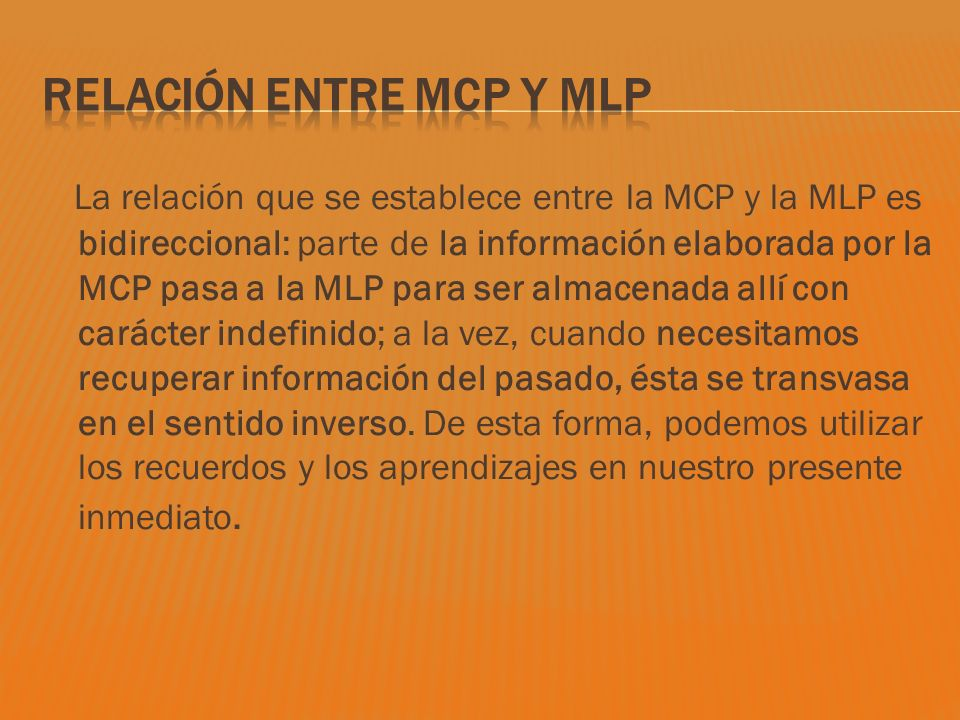 Relación entre MCP y MLP