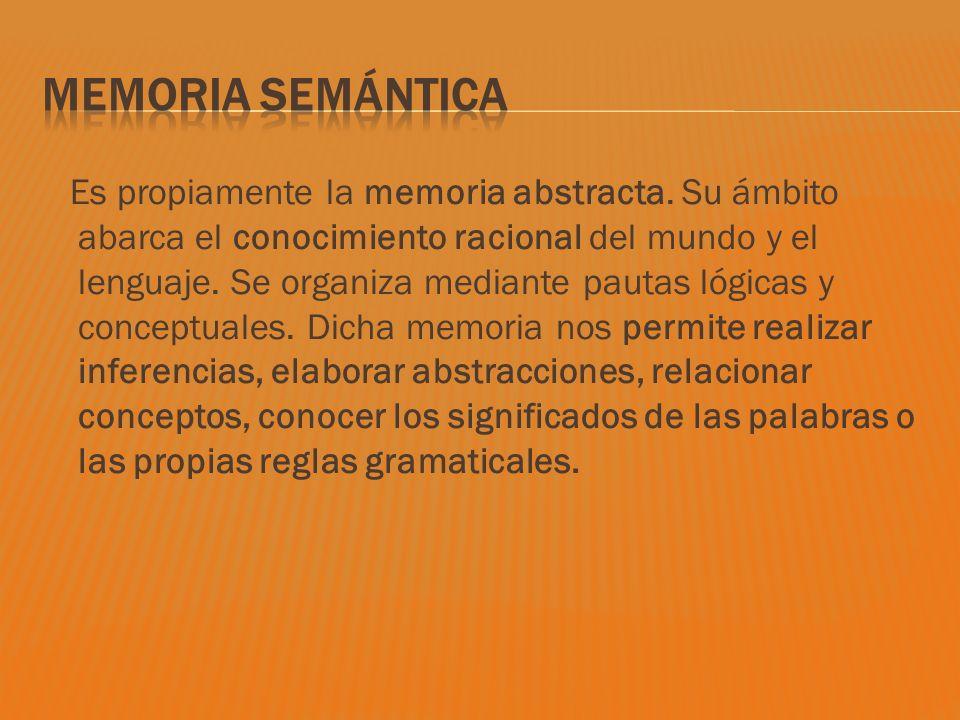 Memoria semántica