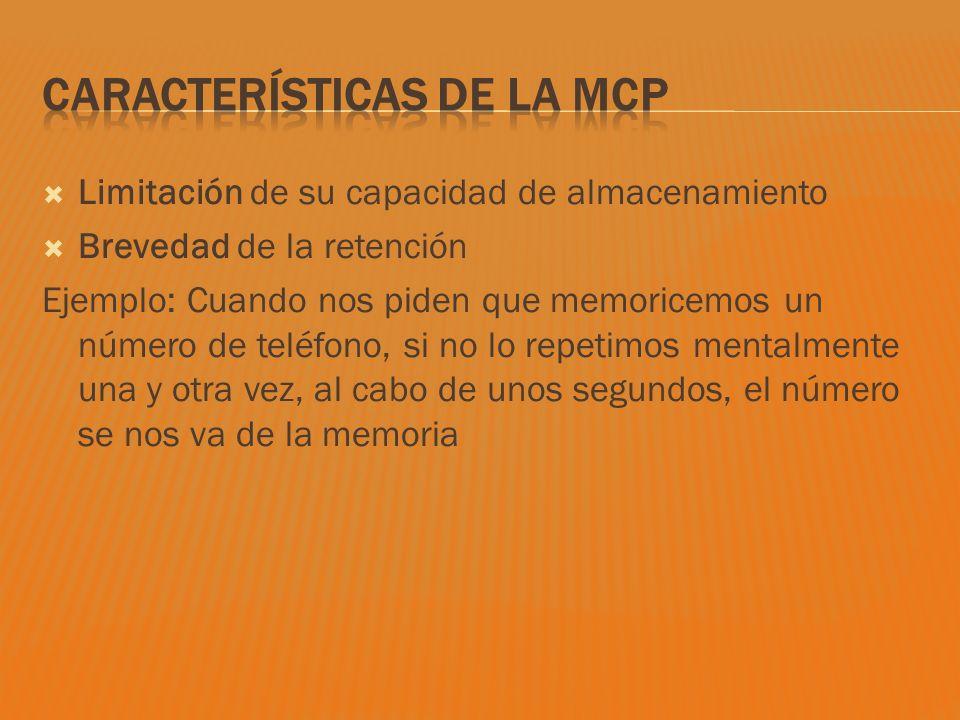 Características de la MCP