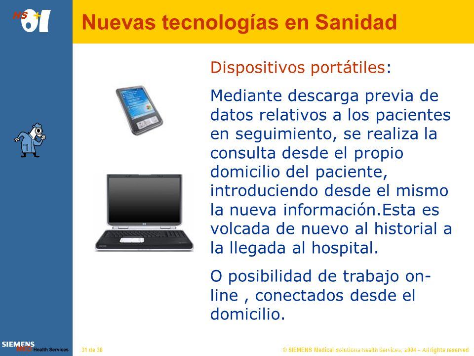 Nuevas tecnologías en Sanidad