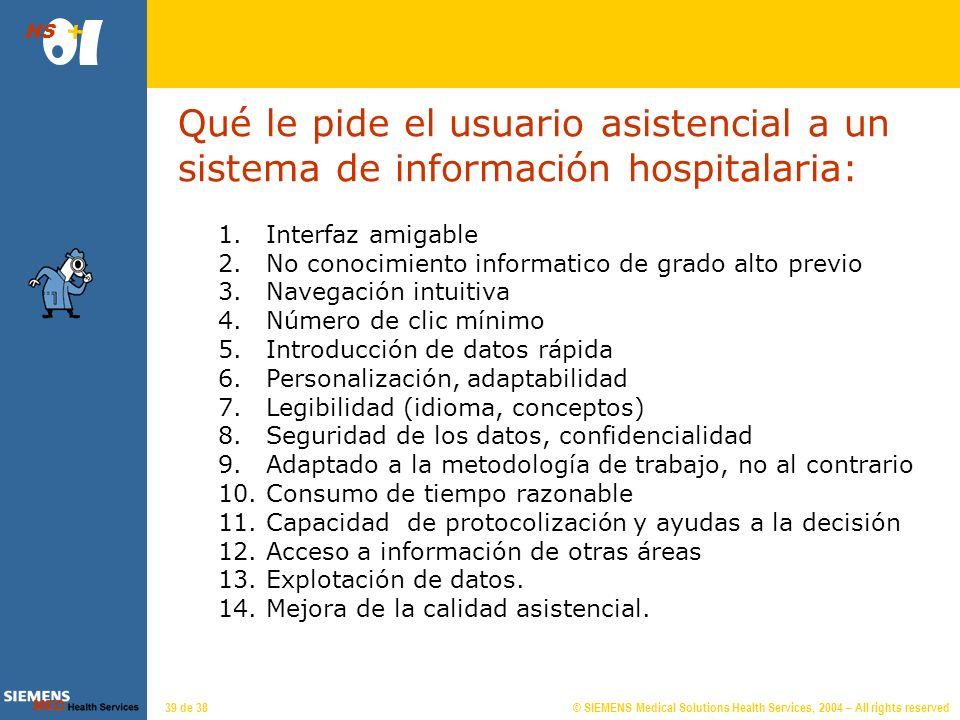 Conceptos funcionales de la actividad asistencial