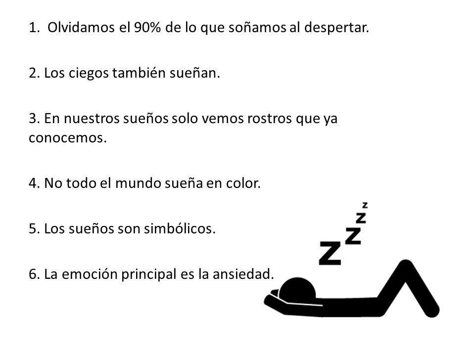 1. Olvidamos el 90% de lo que soñamos al despertar.