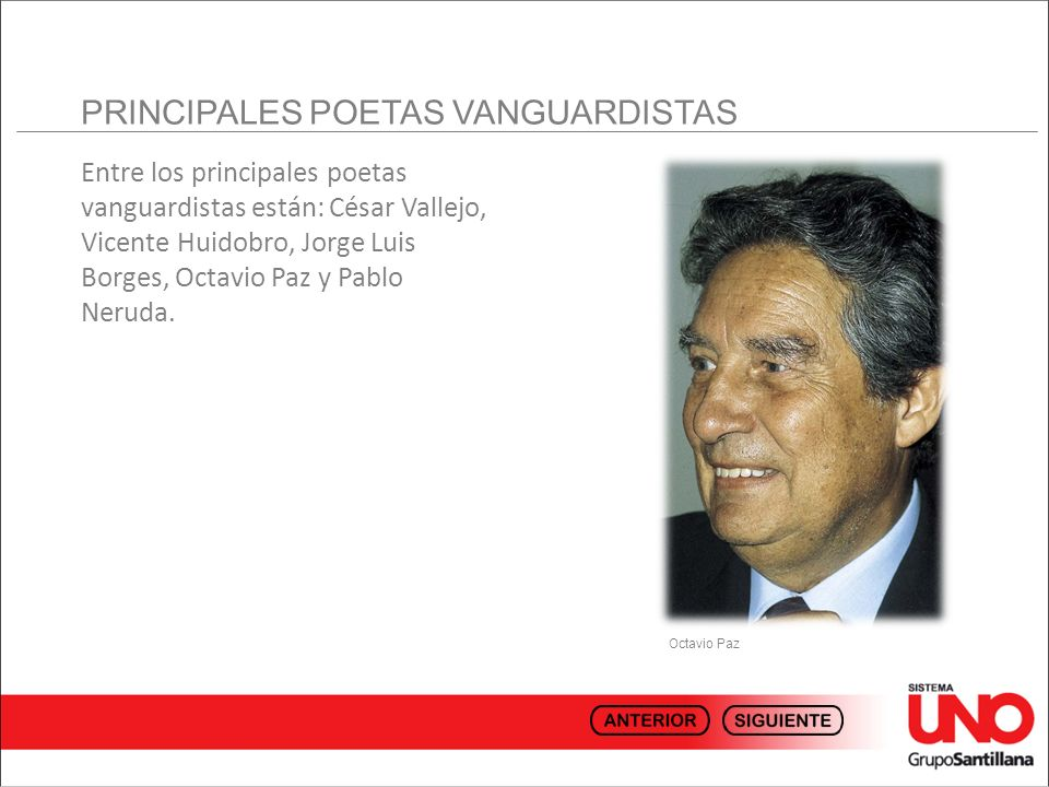PRINCIPALES POETAS VANGUARDISTAS