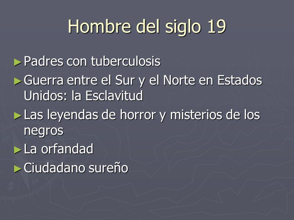 Hombre del siglo 19 Padres con tuberculosis