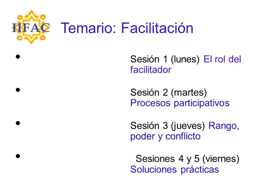 Temario: Facilitación