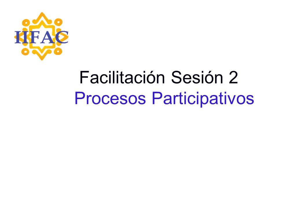 Facilitación Sesión 2 Procesos Participativos