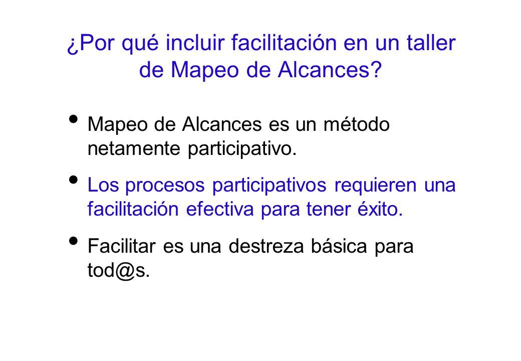 ¿Por qué incluir facilitación en un taller de Mapeo de Alcances