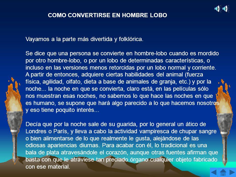 COMO CONVERTIRSE EN HOMBRE LOBO
