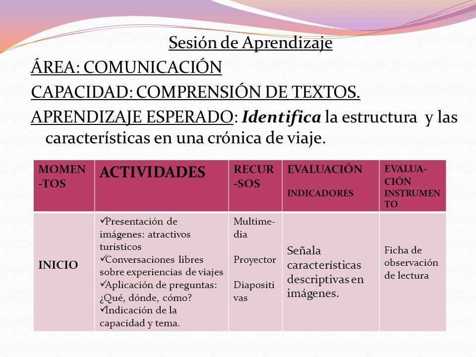 CAPACIDAD: COMPRENSIÓN DE TEXTOS.