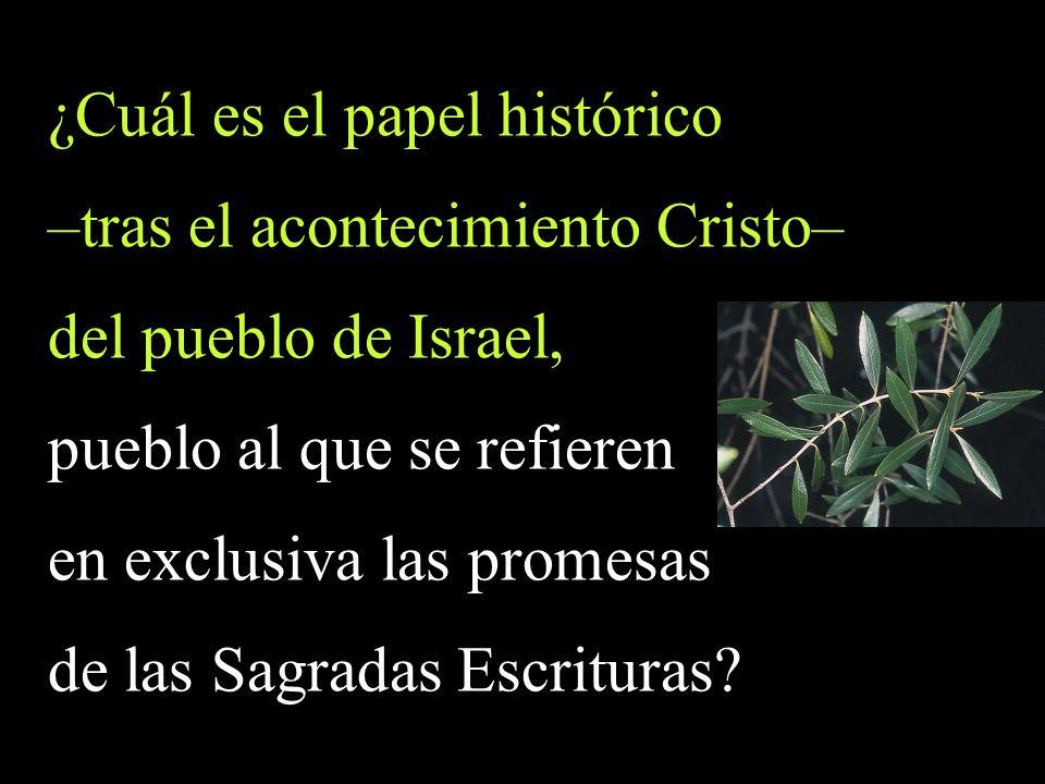 ¿Cuál es el papel histórico –tras el acontecimiento Cristo–