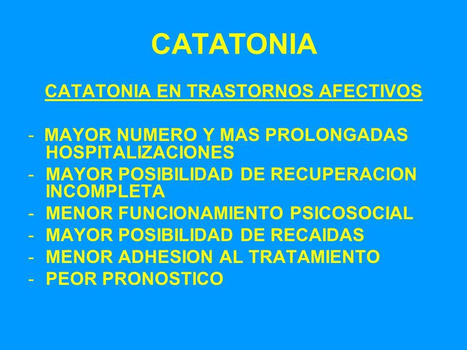 CATATONIA EN TRASTORNOS AFECTIVOS
