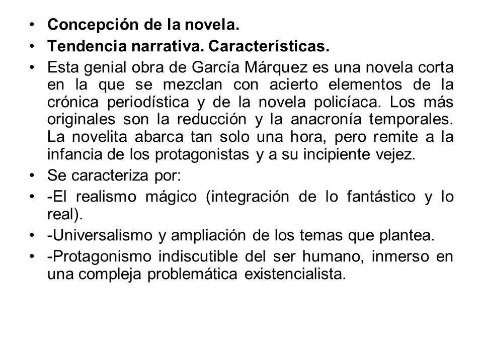 Concepción de la novela.