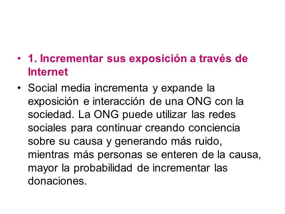 1. Incrementar sus exposición a través de Internet