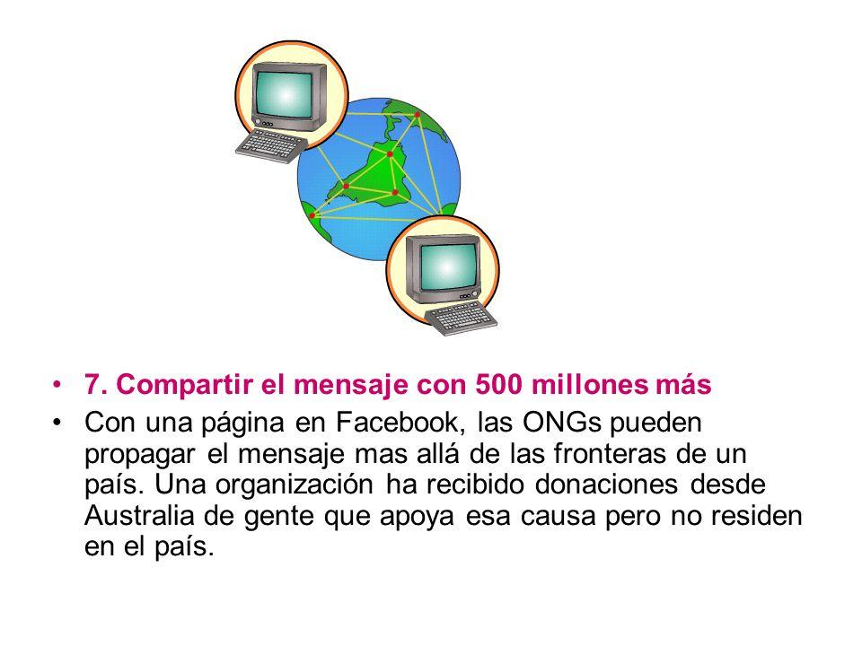 7. Compartir el mensaje con 500 millones más