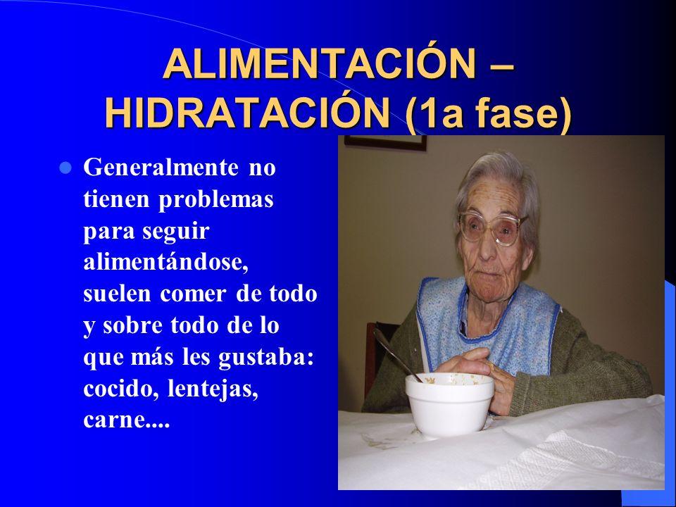 ALIMENTACIÓN – HIDRATACIÓN (1a fase)