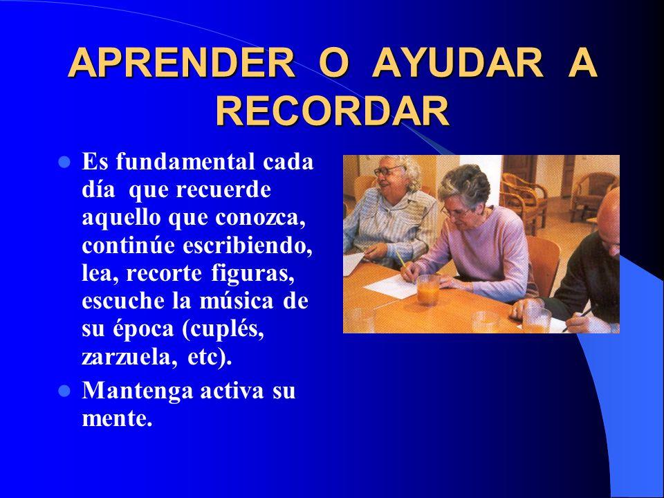 APRENDER O AYUDAR A RECORDAR