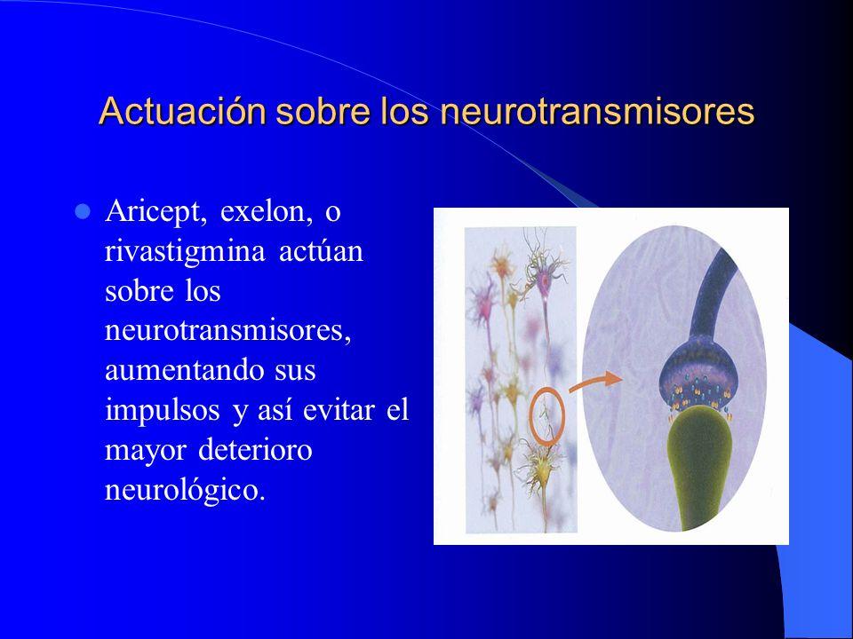 Actuación sobre los neurotransmisores