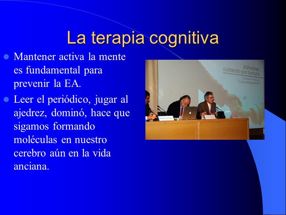 La terapia cognitiva Mantener activa la mente es fundamental para prevenir la EA.