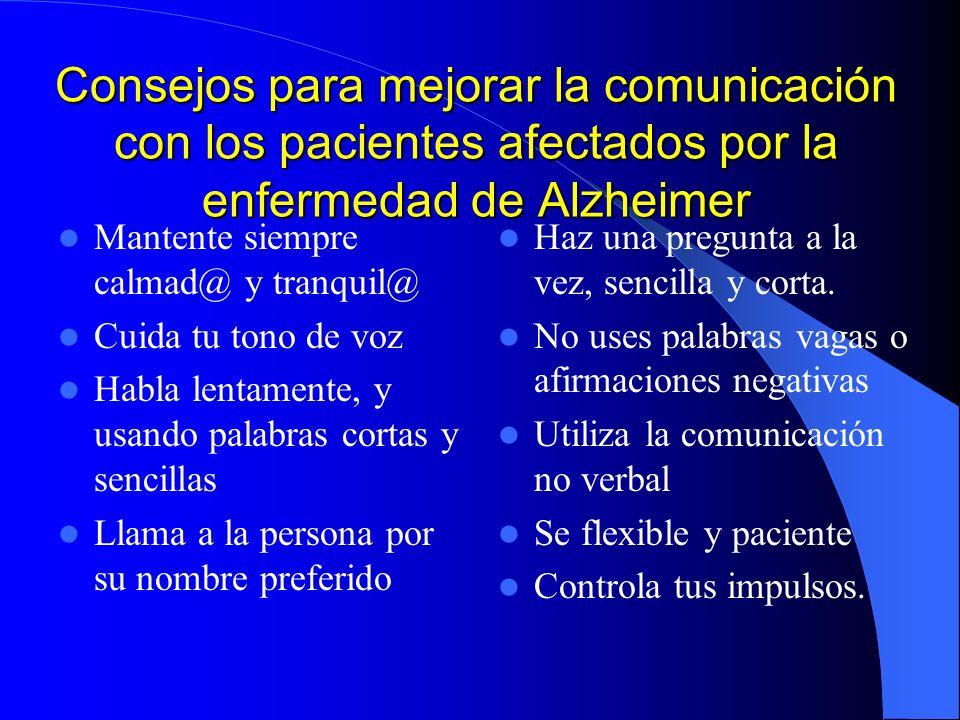 Consejos para mejorar la comunicación con los pacientes afectados por la enfermedad de Alzheimer