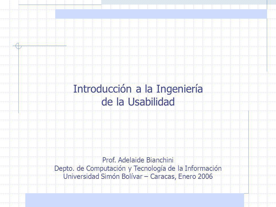 Introducción a la Ingeniería de la Usabilidad