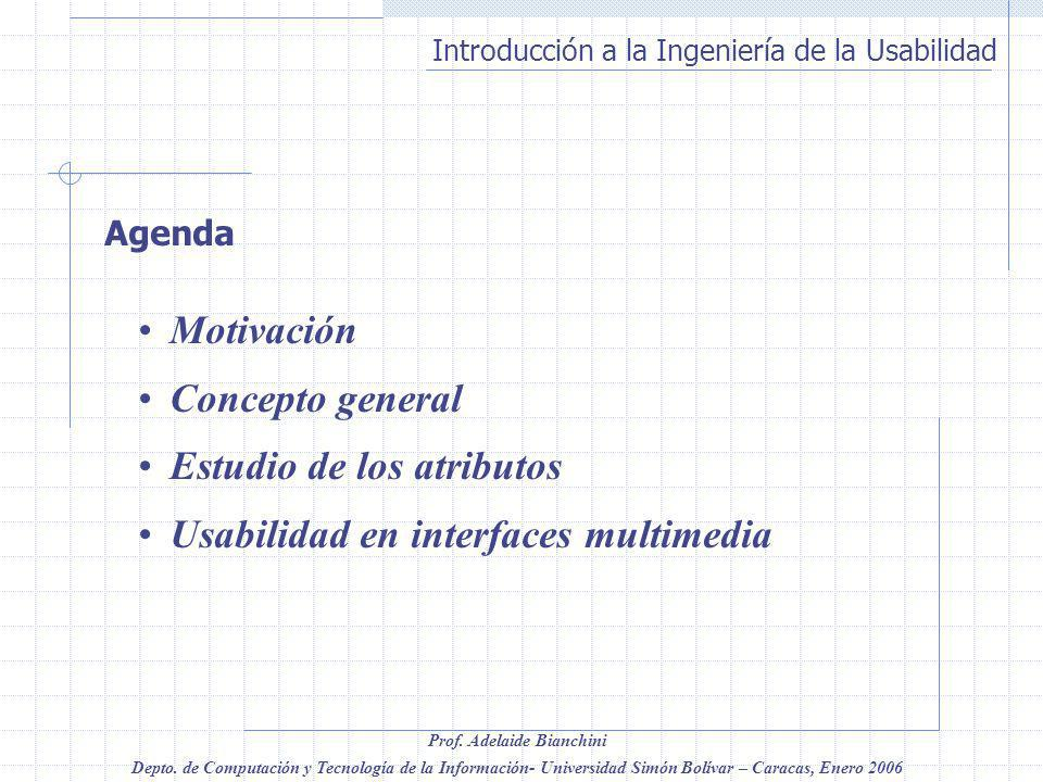 Estudio de los atributos Usabilidad en interfaces multimedia