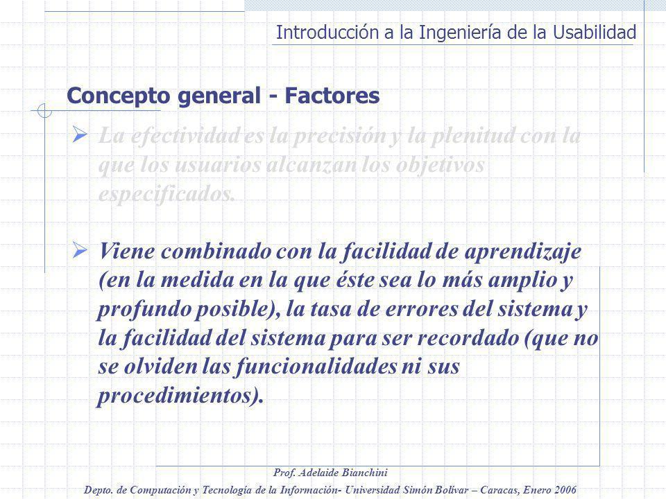 Concepto general - Factores