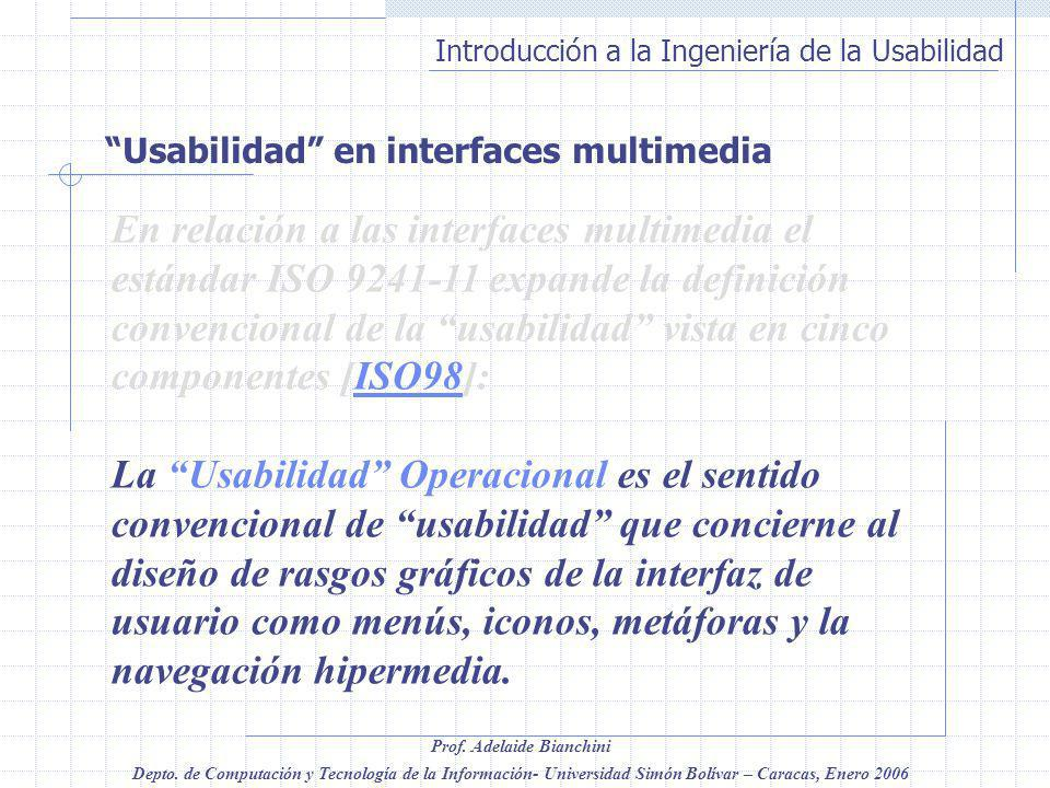 Usabilidad en interfaces multimedia