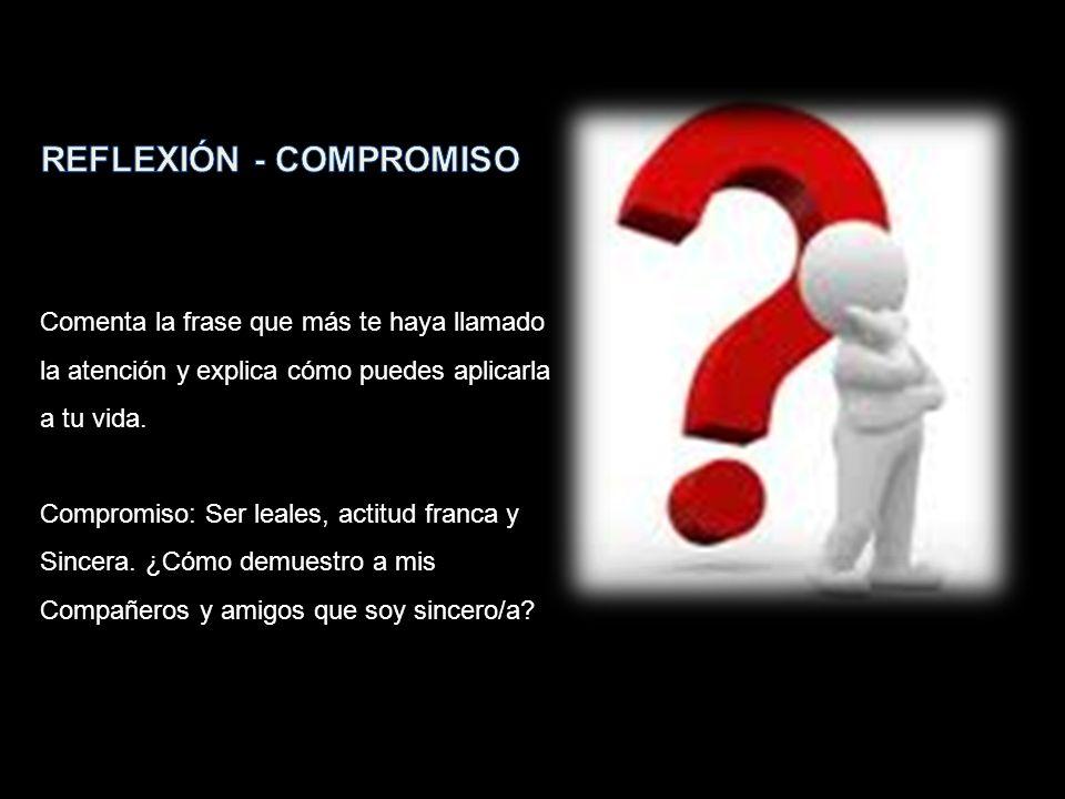 REFLEXIÓN - COMPROMISO