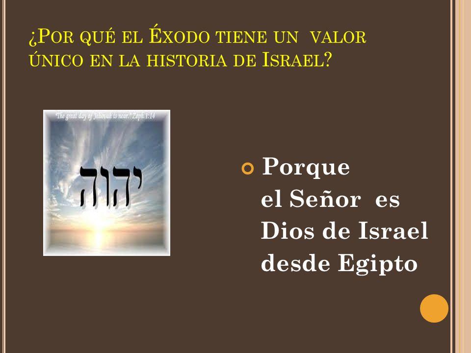 ¿Por qué el Éxodo tiene un valor único en la historia de Israel