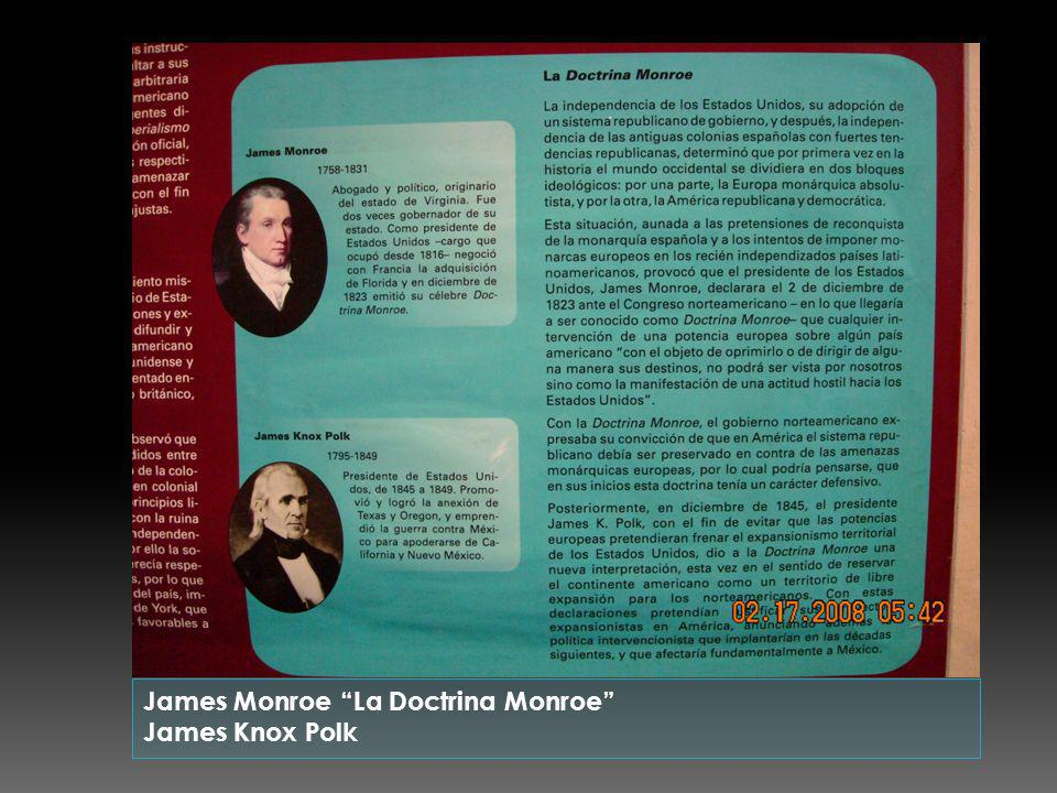 James Monroe La Doctrina Monroe