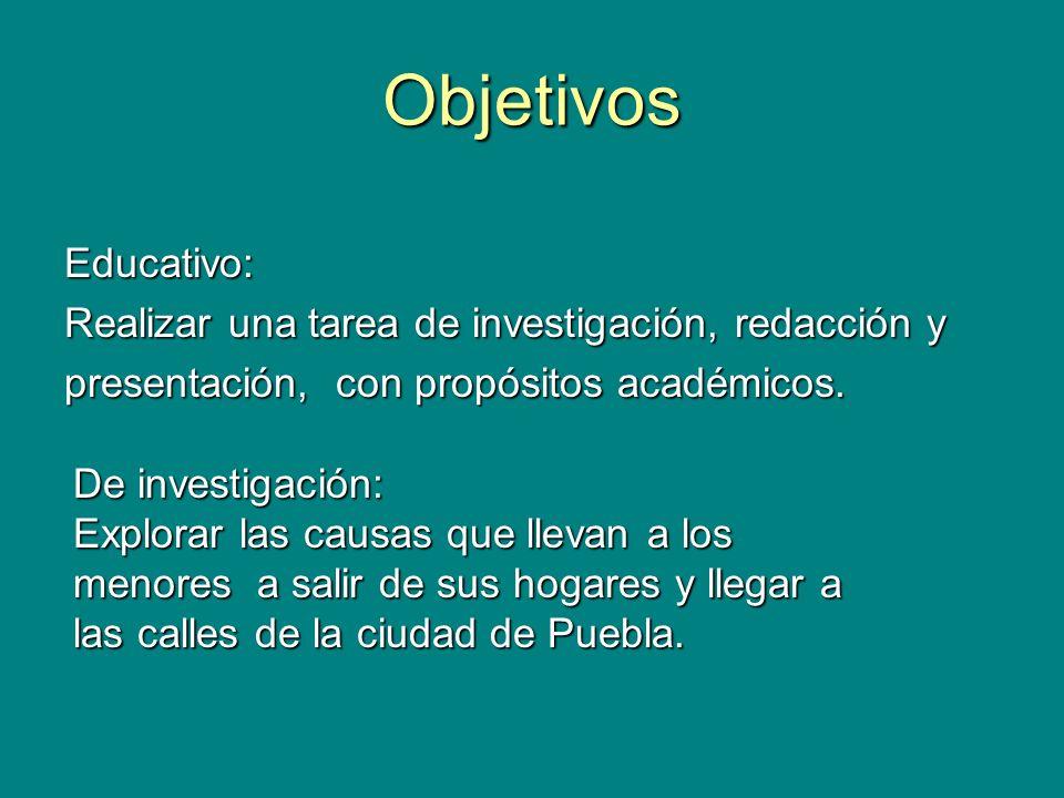 Objetivos Educativo: Realizar una tarea de investigación, redacción y