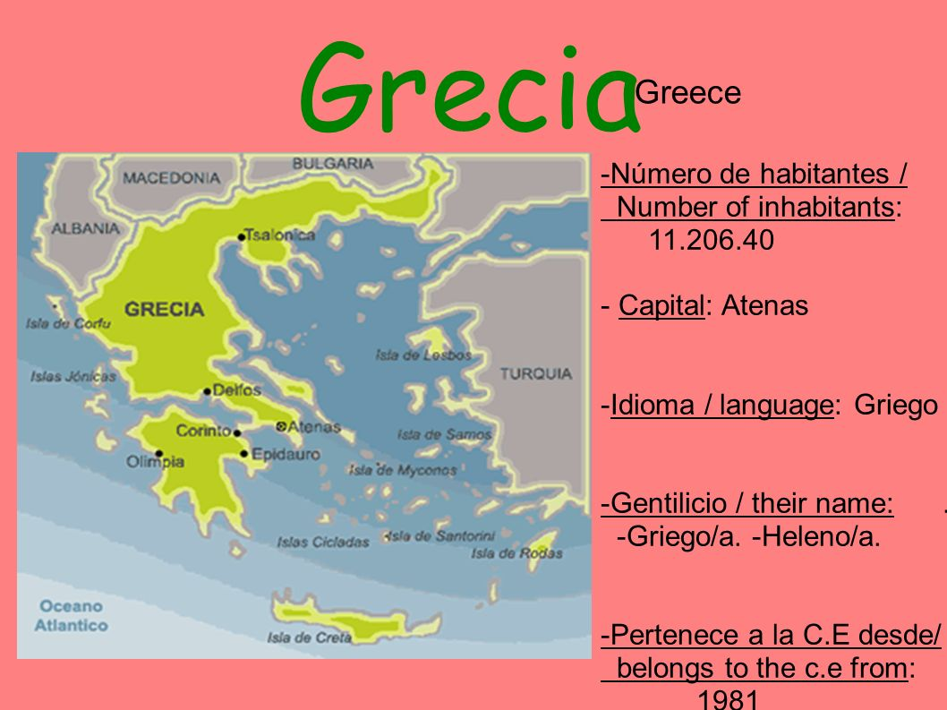 Grecia Greece -Número de habitantes / Number of inhabitants: 11.206.40