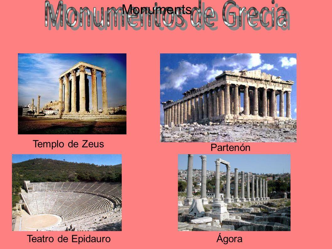 Monuments Monumentos de Grecia Templo de Zeus Partenón