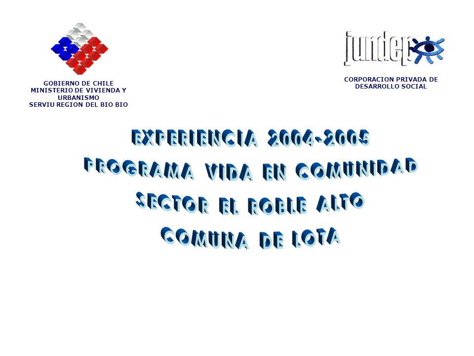 PROGRAMA VIDA EN COMUNIDAD SECTOR EL ROBLE ALTO COMUNA DE LOTA