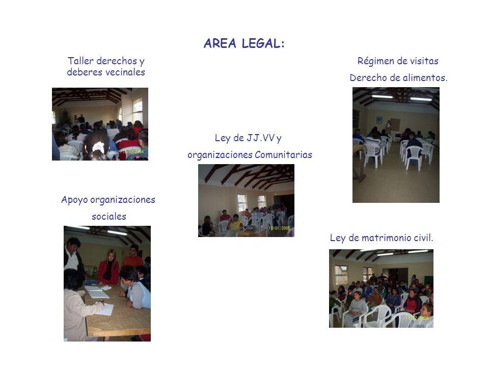 AREA LEGAL: Taller derechos y deberes vecinales Régimen de visitas