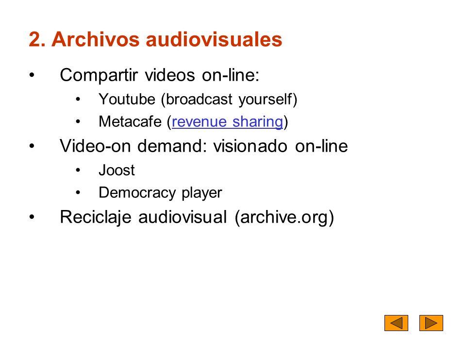 2. Archivos audiovisuales