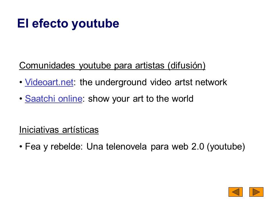 El efecto youtube Comunidades youtube para artistas (difusión)
