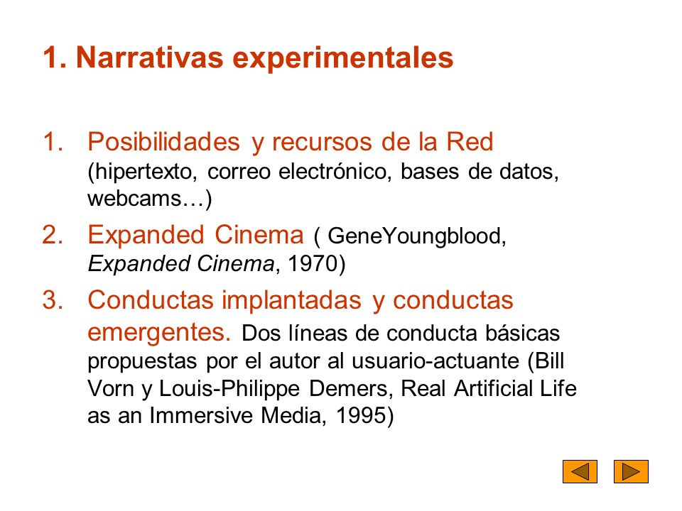 1. Narrativas experimentales
