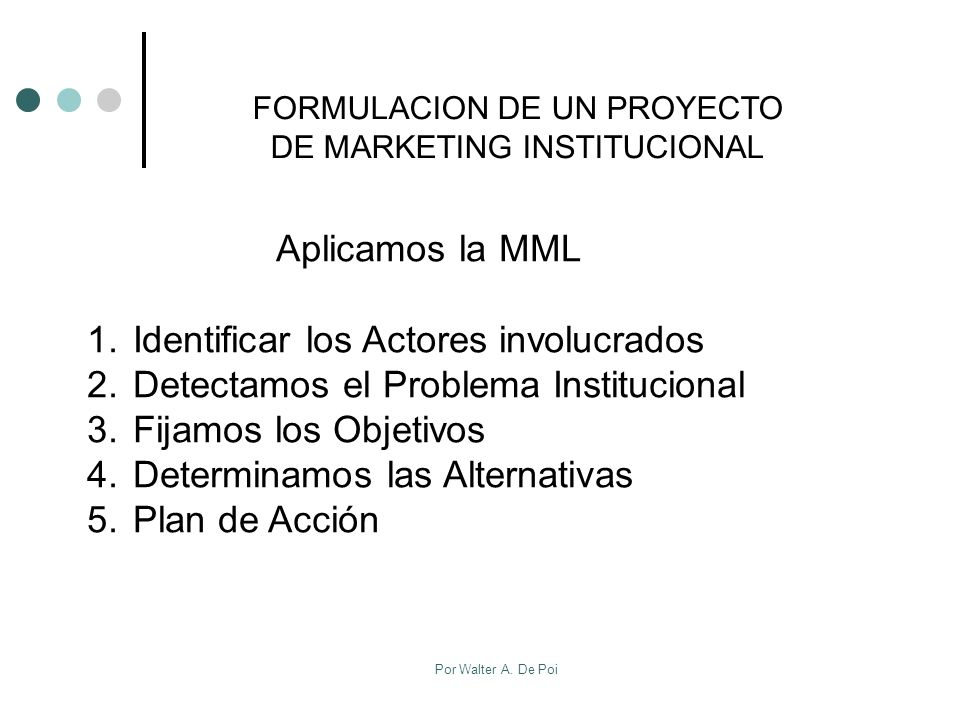 Aplicamos la MML Identificar los Actores involucrados