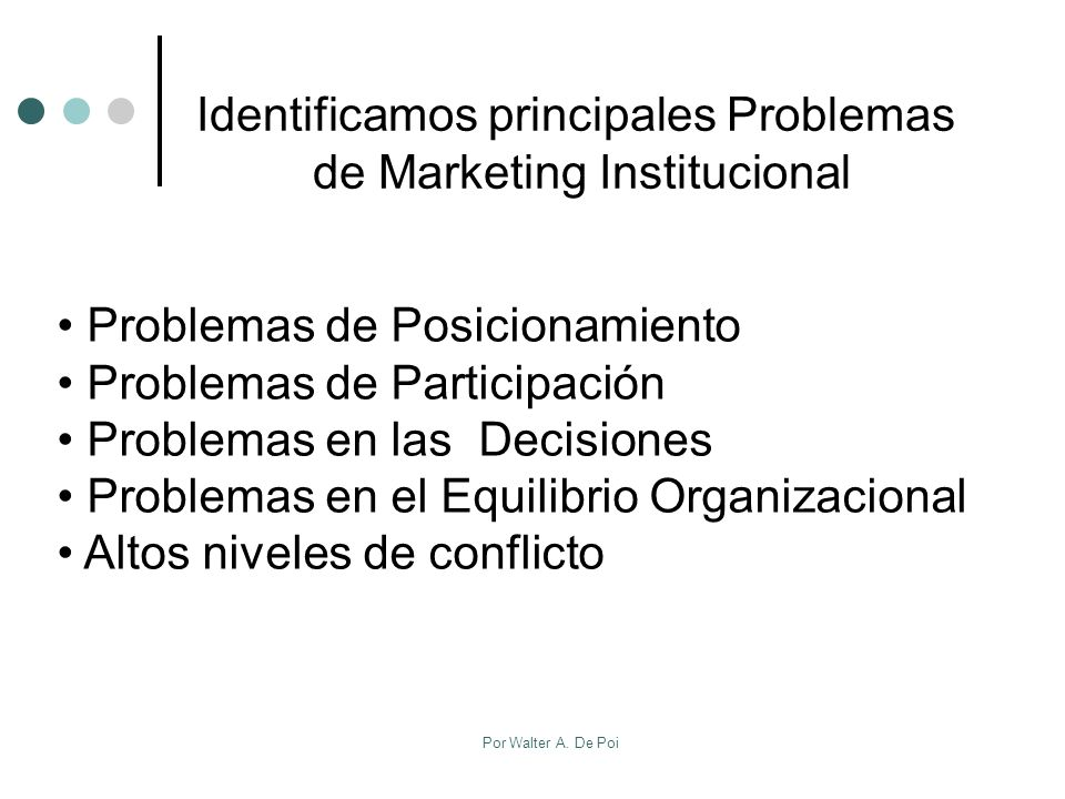 Identificamos principales Problemas de Marketing Institucional