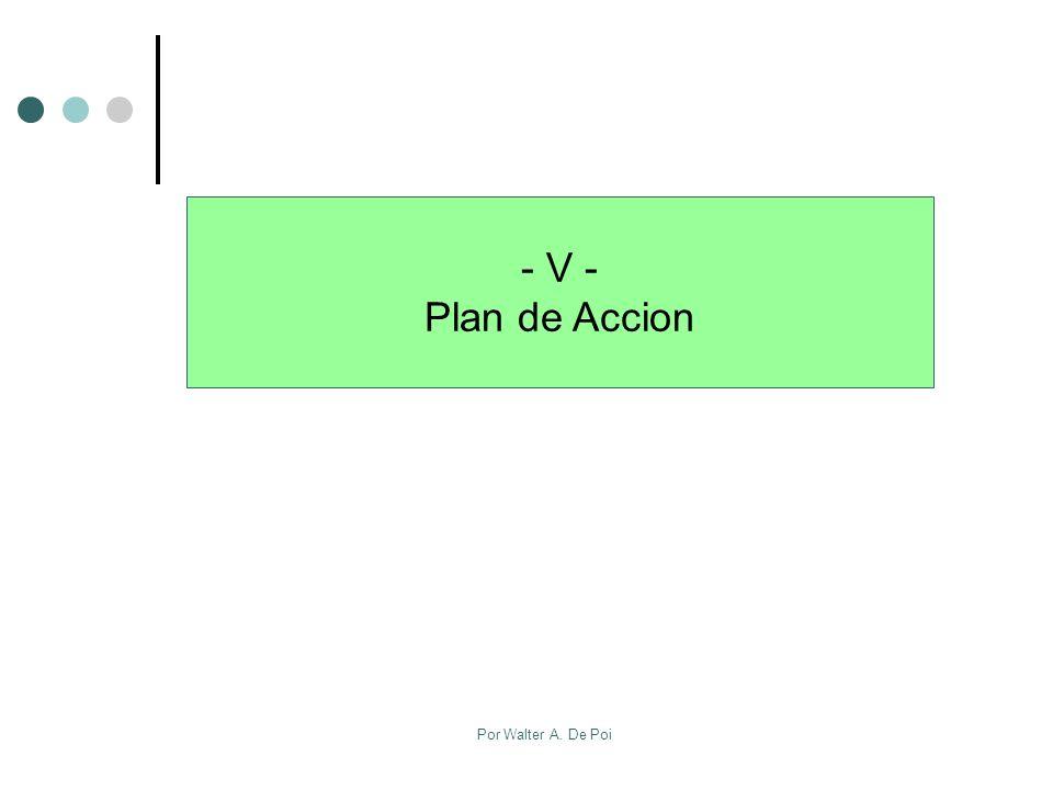 - V - Plan de Accion Por Walter A. De Poi
