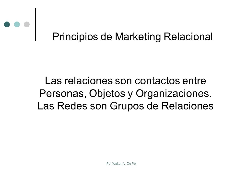 Principios de Marketing Relacional